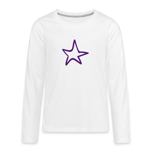 Star Outline Pixellamb - Teenager Premium Langarmshirt
