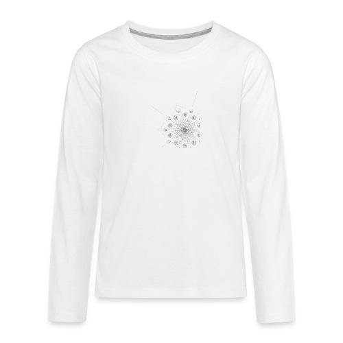 Schlicht und modernes Muster - Teenager Premium Langarmshirt