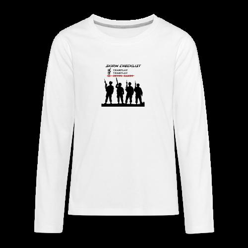 Skirm Checklist - Teenager Premium shirt met lange mouwen