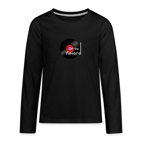 Off the Record - Teinien premium pitkähihainen t-paita
