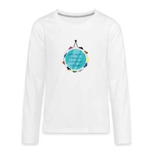 Spiegelschrift - Teenager Premium Langarmshirt