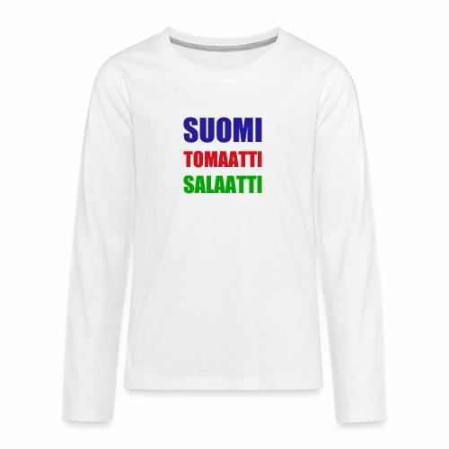 SUOMI SALAATTI tomater - Premium langermet T-skjorte for tenåringer