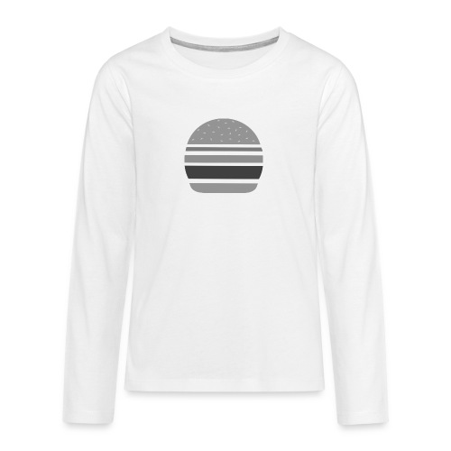 Logo_panhamburger_gris - T-shirt manches longues Premium Ado
