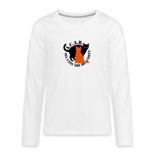 gaticos - Camiseta de manga larga premium adolescente