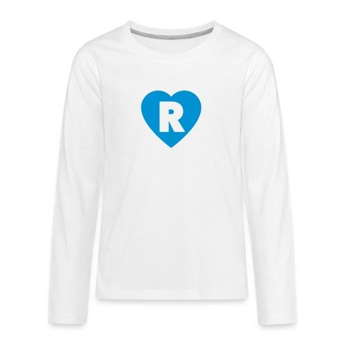 cuoRe - Maglietta Premium a manica lunga per teenager