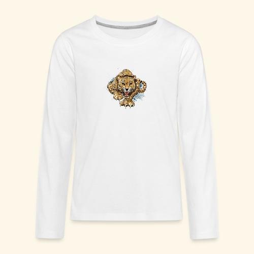 Leopardo KutuXa - Camiseta de manga larga premium adolescente