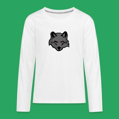 wolf logo - Maglietta Premium a manica lunga per teenager