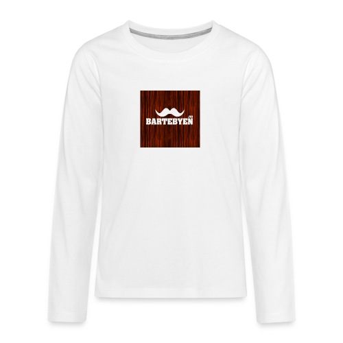logo bartebyen buttons - Premium langermet T-skjorte for tenåringer