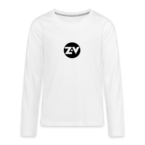 Zvooka Records Logo - Teenagers' Premium Longsleeve Shirt