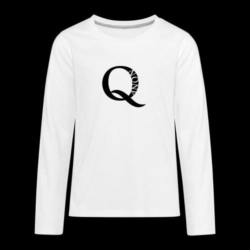Q Anon Q-Anon Original Logo - Teenager Premium Langarmshirt