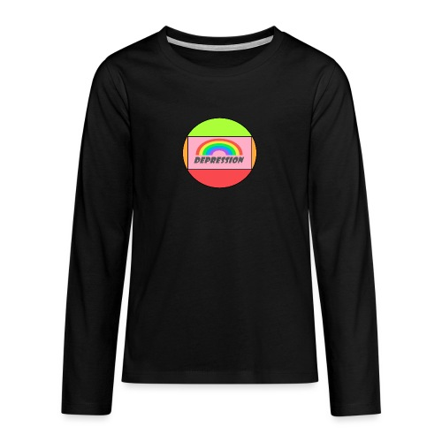 Depressed design - Teenagers' Premium Longsleeve Shirt