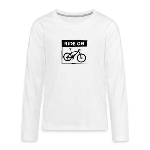Ride On MTB 1 Color - Teenager Premium Langarmshirt