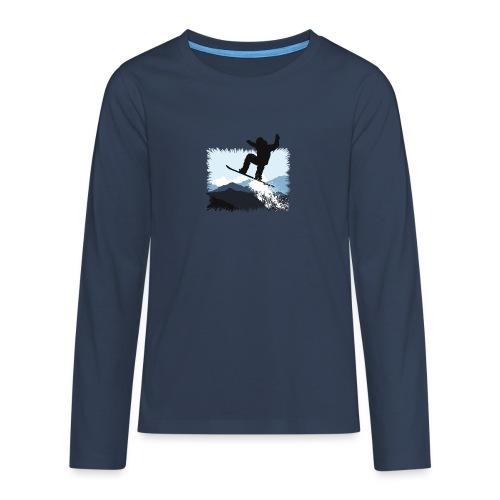 Snowboarder Action Jump | Apresski Shirt gestalten - Teenager Premium Langarmshirt