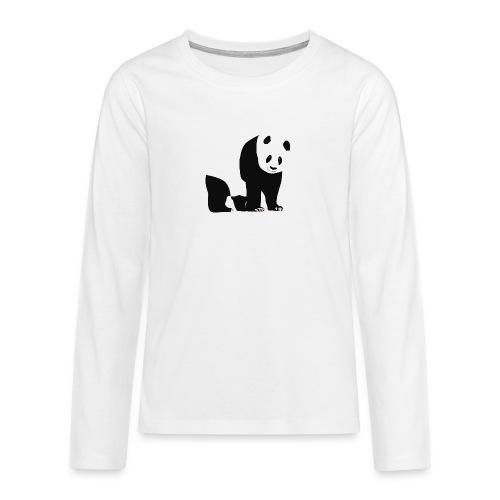 Panda - Teinien premium pitkähihainen t-paita