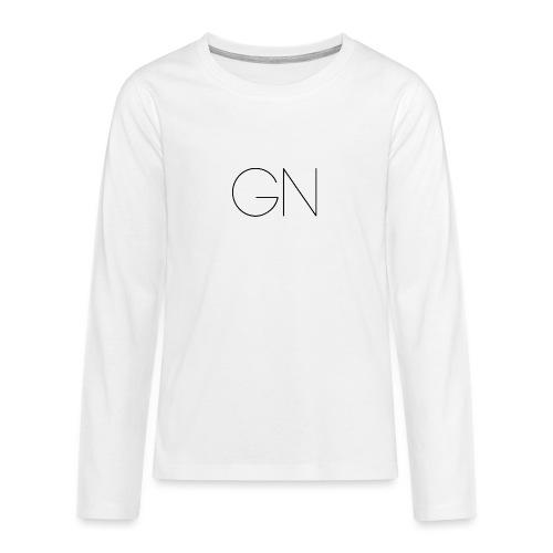 Långärmad tröja GN slim text - Långärmad premium T-shirt tonåring