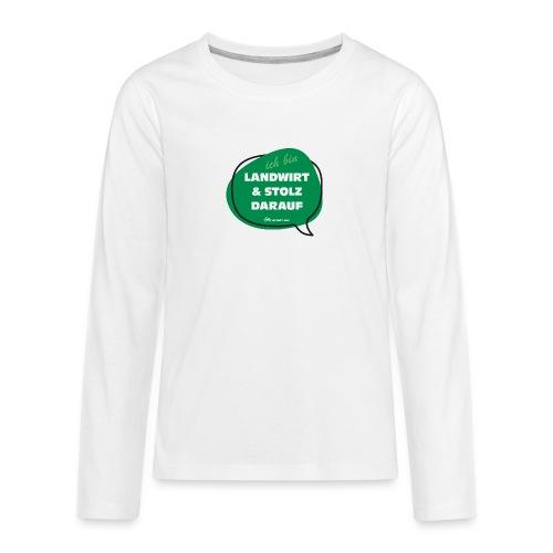 Landwirt und stolz darauf - Teenager Premium Langarmshirt