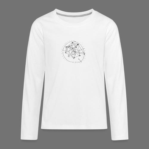 SEO strategia No.1 (musta) - Teinien premium pitkähihainen t-paita