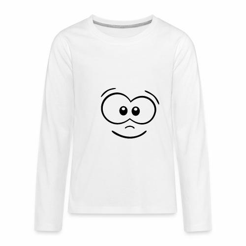 Gesicht fröhlich - Teenager Premium Langarmshirt