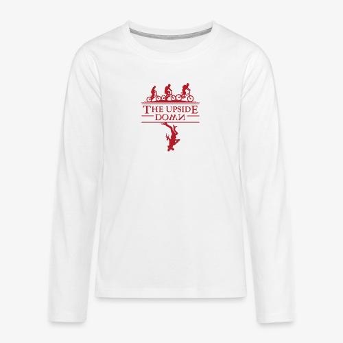 upside down - Koszulka Premium z długim rękawem dla nastolatków