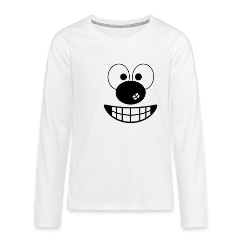 Funny cartoon face - Teenagers' Premium Longsleeve Shirt