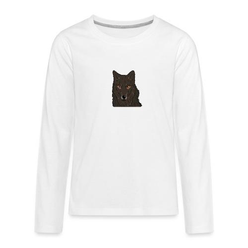 HikingMantis Wolf png - Teenager premium T-shirt med lange ærmer