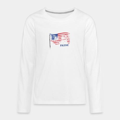 USA - Koszulka Premium z długim rękawem dla nastolatków