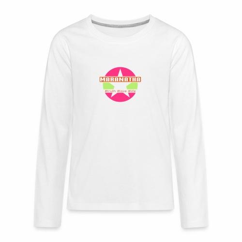 maranatha rosa-grün - Teenager Premium Langarmshirt