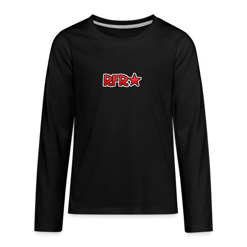 rfr logo - Teinien premium pitkähihainen t-paita