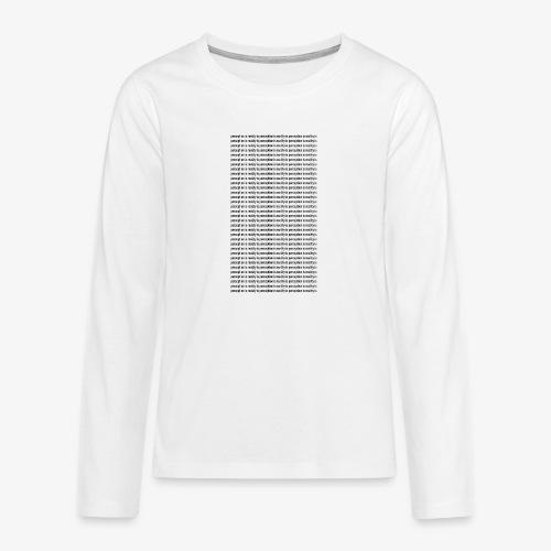 perception - Koszulka Premium z długim rękawem dla nastolatków