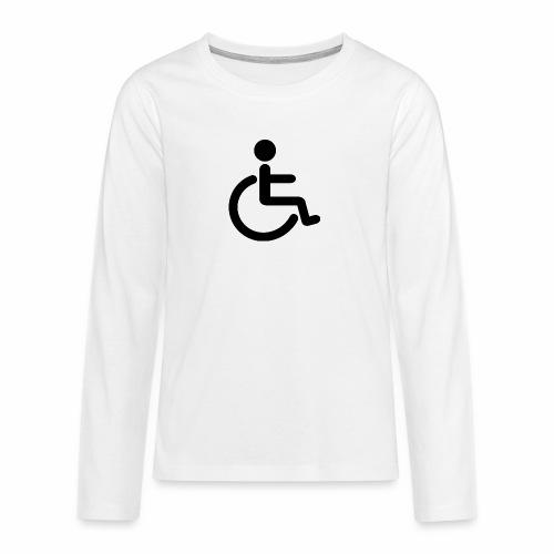 Pyörätuolipotilas - tuoteperhe - Teinien premium pitkähihainen t-paita