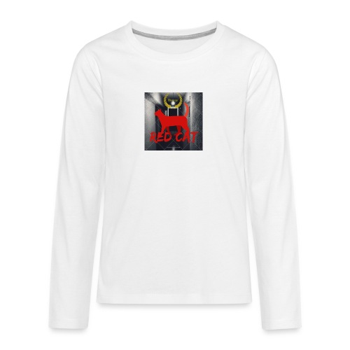 Red Cat (Deluxe) - Teenagers' Premium Longsleeve Shirt