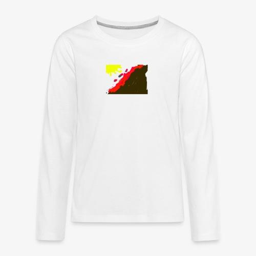 flowers - Teenager premium T-shirt med lange ærmer