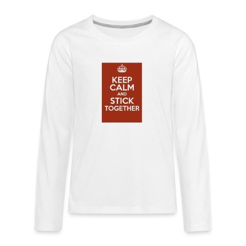 Keep calm! - Teenagers' Premium Longsleeve Shirt