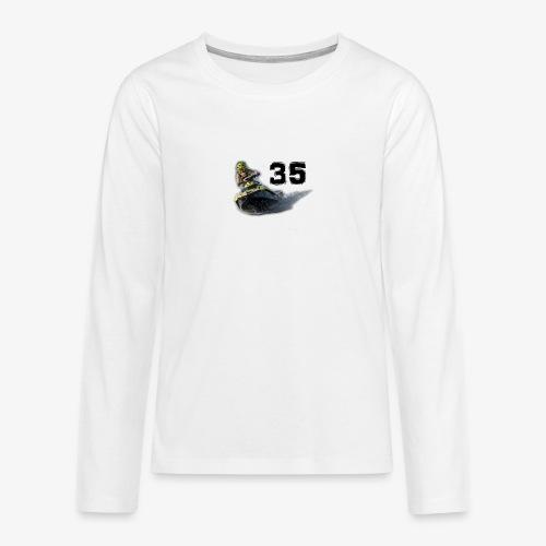 jetski35 - Teinien premium pitkähihainen t-paita