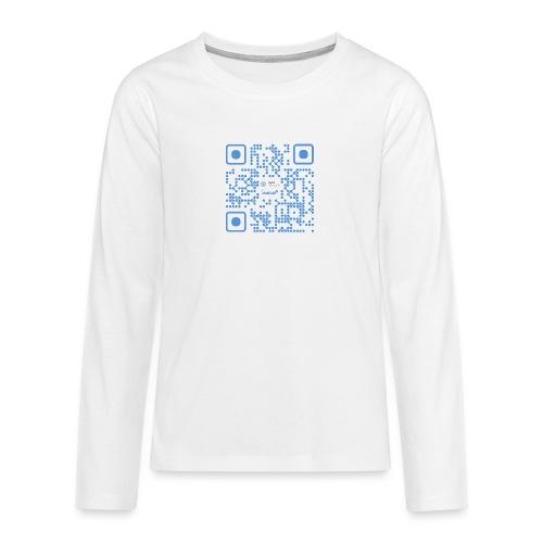 QR Maidsafe.net - Teenagers' Premium Longsleeve Shirt