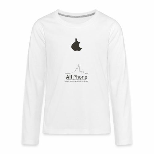 ailphoneok png - T-shirt manches longues Premium Ado