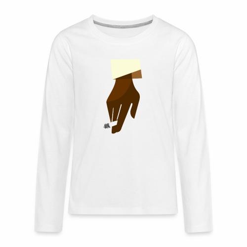Hand mit Kippe - Teenager Premium Langarmshirt