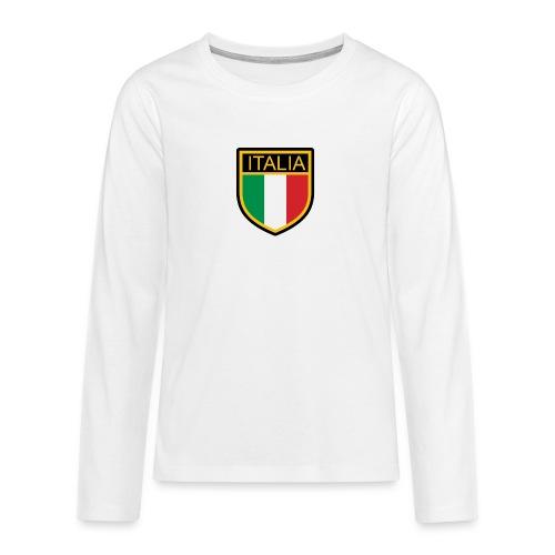 SCUDETTO ITALIA CALCIO - Maglietta Premium a manica lunga per teenager
