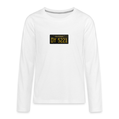 CALIFORNIA BLACK LICENCE PLATE - Teenagers' Premium Longsleeve Shirt