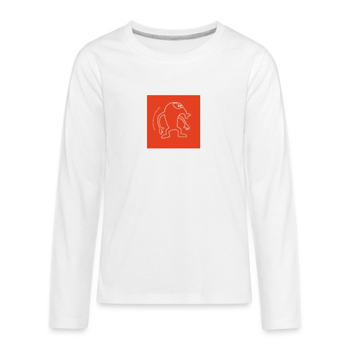 button vektor rot - Teenager Premium Langarmshirt