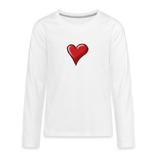 Love (coeur) - T-shirt manches longues Premium Ado