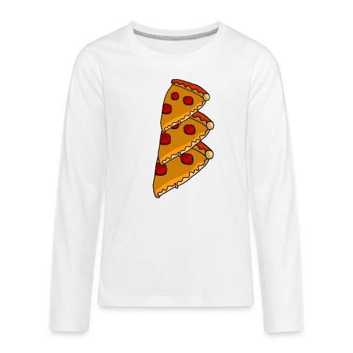 pizza - Teenager premium T-shirt med lange ærmer