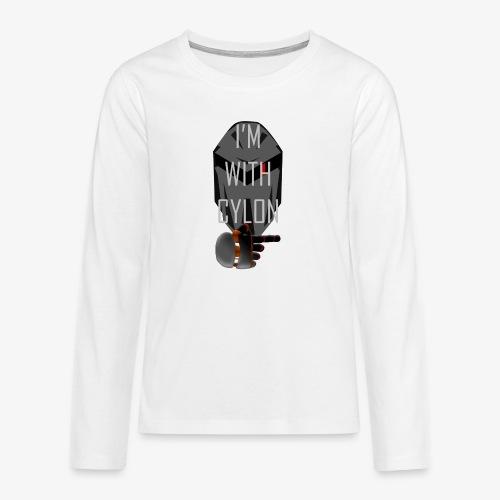 I'm with Cylon - Premium langermet T-skjorte for tenåringer