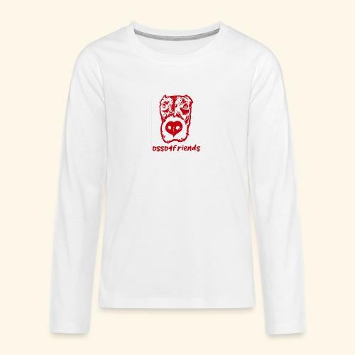 Logo ROSSO TRASPARENTE creative - Maglietta Premium a manica lunga per teenager