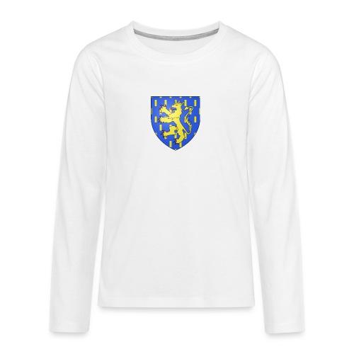Blason de la Franche-Comté avec fond transparent - T-shirt manches longues Premium Ado