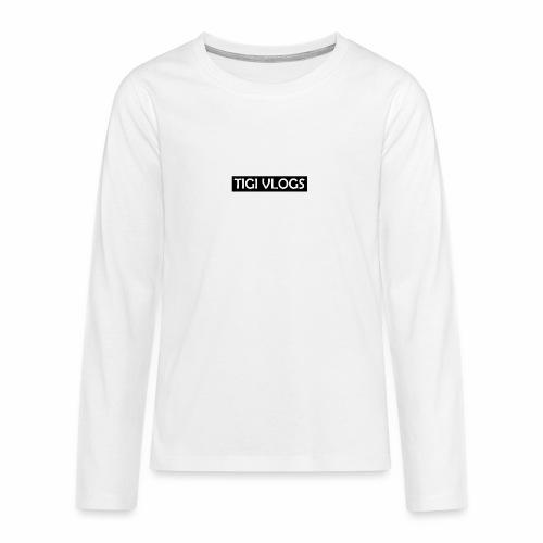 TigiVlogs Merch 3.0 - Långärmad premium T-shirt tonåring