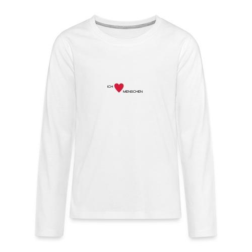 Ich liebe Menschen - Teenager Premium Langarmshirt