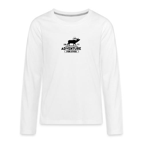 ADVENTURE FOR EVER - CERVO - Maglietta Premium a manica lunga per teenager