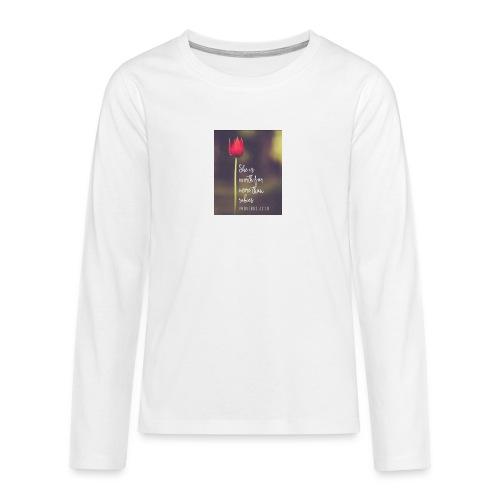IMG 20180308 WA0027 - Teenagers' Premium Longsleeve Shirt
