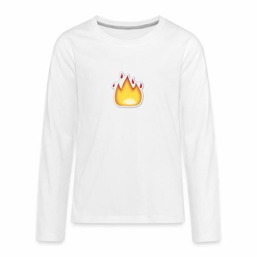 Liekkikuviollinen vaate - Teinien premium pitkähihainen t-paita